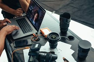 Equipments of a photographer