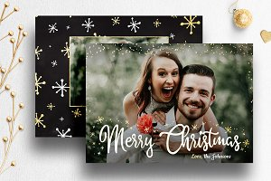 Photo Christmas Card Template | 008