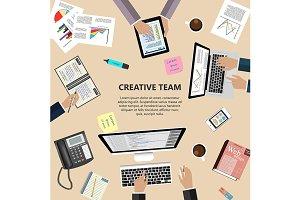 Creative team concept
