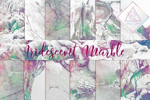 Iridescent Marble Digital Paper