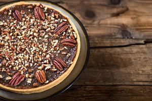 Pecan Pie, made from butter enriched