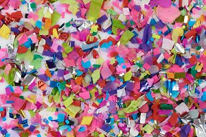 Paper confetti background