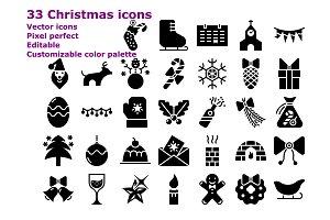 Glyph Christmas icons