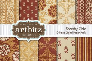 Shabby Chic V1  Digital Paper