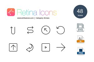 48 Retina Arrow Icons