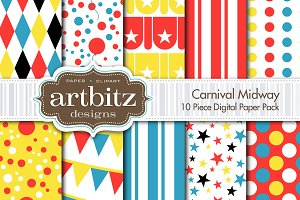 Carnival Midway Digital Paper
