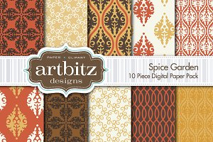 Spice Garden Digital Paper 10 Piece