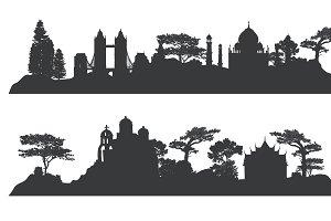 architectural landmark vector