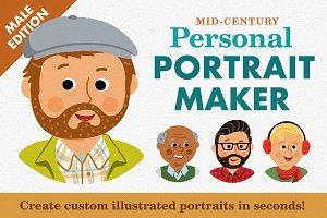 Mid-Century Personal Portrait Maker