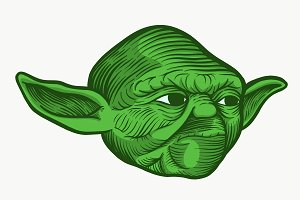 Yoda Star Wars Inspired Vector