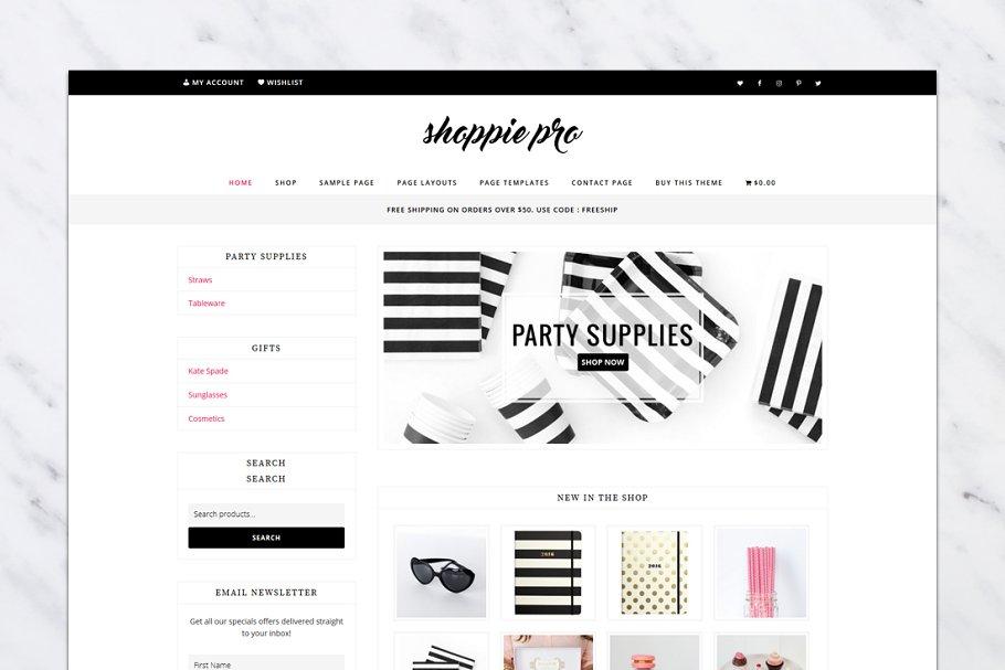 239c45914 Shoppie Pro // Genesis Child Theme ~ WordPress Commerce Themes ~ Creative  Market