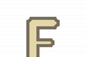 Capital letter F symbol illustration