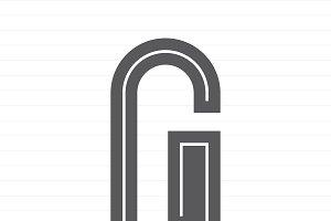 Capital letter G symbol illustration