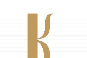 Capital letter K symbol illustration
