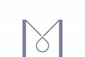 Capital letter M symbol illustration