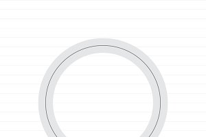 Capital letter O symbol illustration