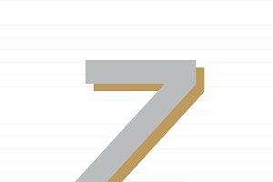 Capital letter Z symbol illustration