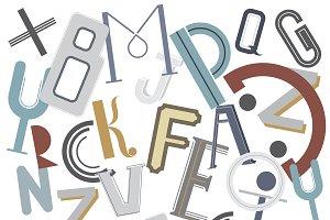 Alphabets scrambled up illustration