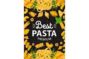Pasta with greenery, Italian cuisine