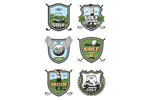 Golf tournament, sport club icons