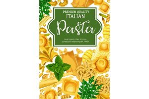 Italian pasta with seasoning