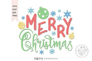 Merry Christmas Kids SVG DXF EPS PNG