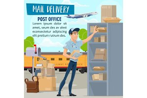Mail delivery service, mailman