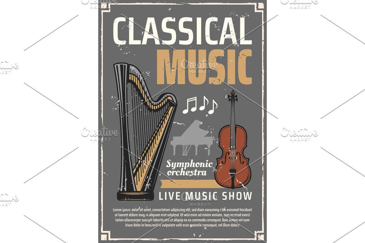Classic music, musical instruments