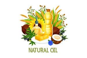 Natural oils, seasonings