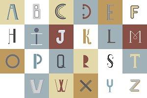 Alphabet typography illustration