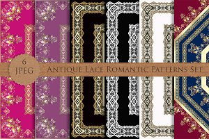 Antique Lace Romantic Patterns Set