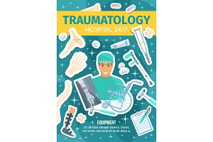 Traumatology medical clinic, doctor