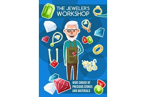 Jewelers workshop, jewerly, gemstone