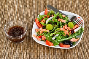 Fresh Salad and Balsamic Vinegar