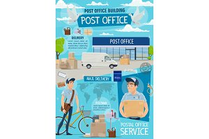 Post office, mail delivery service