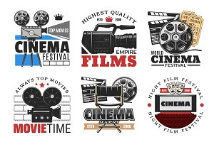 Cinema films, camera and movie