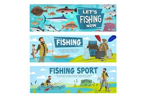 Fishing sport and fishery leisure