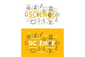 Science and education symbols