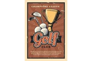 Golf game sport, balls and sticks