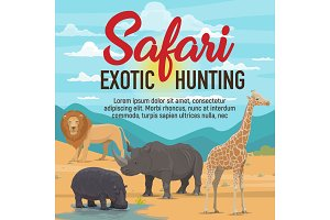 Safari hunting, African animals