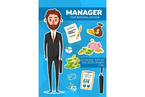 Manager profession financial advisor