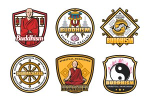 Buddhism religion symbols, monk