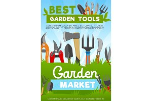 Garden tools, farming equipment