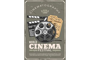 Cinema festival, film and tickets