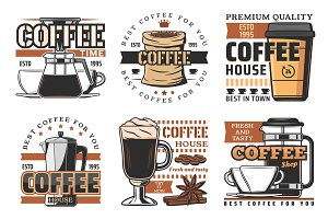 Coffee and production icons