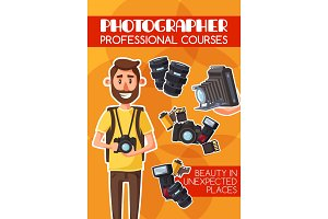 Photography courses, vector