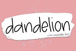 Dandelion - A Fun Handwritten Font