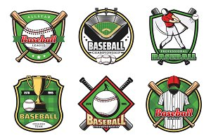 Baseball sport icons and emblems