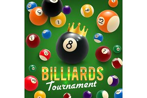 Billiard balls and crown