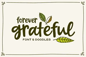 Forever Grateful Font & Doodles
